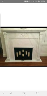 Antique fire place mantle and surround