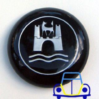 Horn Button, New Bug/Ghia W/Wolfsburg Crest Emblem