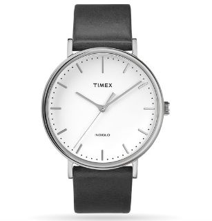 Mens Timex Fairfield 41mm Leather Strap Watch