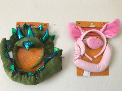 dinosaur or pig costume sets (new)