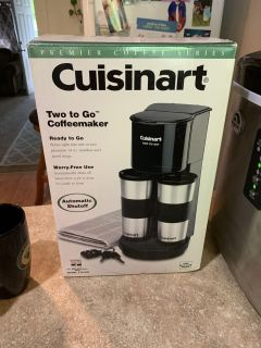 Cousinart two to go coffee maker new never used asking $30