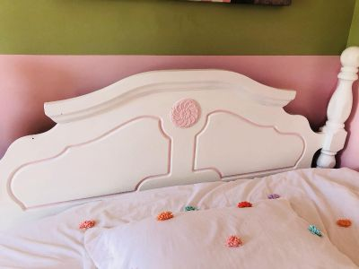 Queen bed frame and mattress