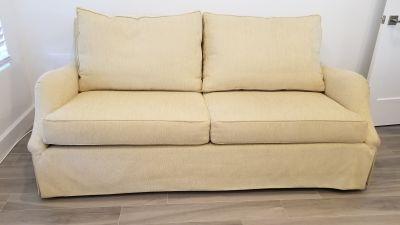 Custom-made, 2-cushion, modern sofa