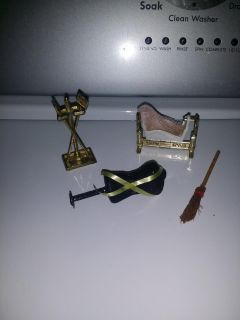 Vintage Dollhouse / Doll Accessories; Some Brass