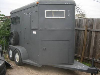 7ft tall--2 horse trailer toy hauler