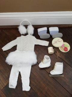 AMERICAN GIRL DOLL Snowy Outfit Bundle