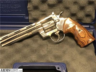 """For Sale: SMOKING HOT Colt Python 6"""" Mirror Nickle Finish"""
