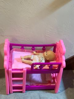 Doll bunk beds with baby