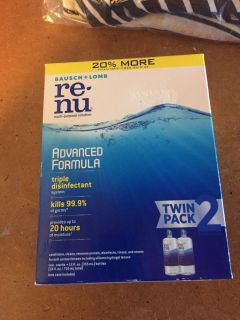 NIB TWIN PACK CONT LENS SOLUTION