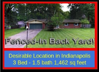Fabulous Indianapolis Home for Sale - Priced to Sell by Owners - Large 3 Bedroom