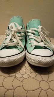 Mint colored All Star Converse Shoes size 8