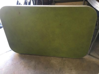 Vintage green fold out table