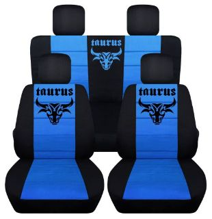 Sell Front&Rear Black-Light Blue SeatCovers Taurus sign 2Door Jeep Wrangler 2011-2016 motorcycle in Upland, California, United States, for US $159.99