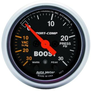 Sell AutoMeter 3377 Sport-Comp Electric Boost/Vacuum Gauge motorcycle in Naperville, IL, United States, for US $235.95