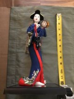 Japanese Geisha Doll 12 Tall- in excellent condition-smoke free home