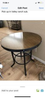 Industrial Side table/end table (like new)