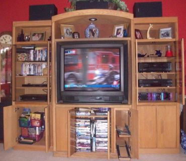 Entertainment Center, TV & Surround Sound System with speakers