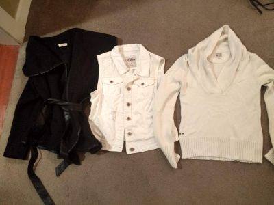 Lot of 3 - Sweater, vest, and little coat (Converse, MUDD)