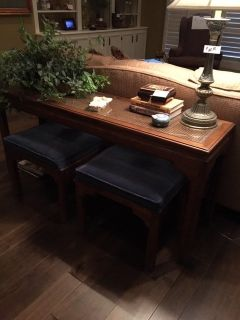 Sofa Table With Two Benches