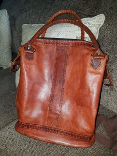 Nice all leather purse/tote...$20