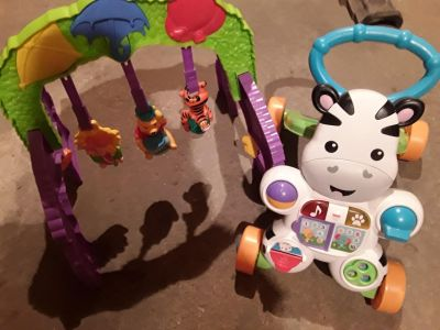 Baby toys - zebra walker and pooh play