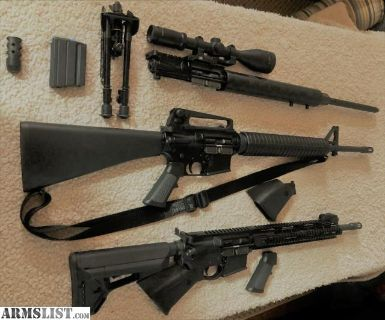 For Sale: AR-15 A-3 H-BAR , M-4 5.56, and 6.5 Grendal Complete Upper 2.5 Rifle Bundle with Accessories