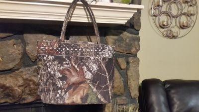 Camo and bling purse