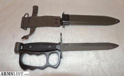 For Sale: Vietnam era US Surplus BOC M- 7 Bayonet w/ Knuckle Guard handle