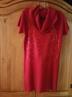 Red sweater dress-new size medium