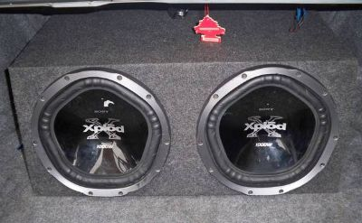 2 SONY SUBWOOFERS IN ENCLOSURE