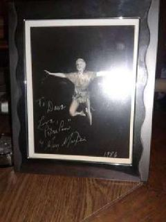 Mary Marting autograph as peter pan