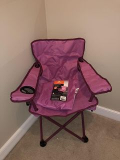 New Pink kids bag chair folding portable great for sports and camping.