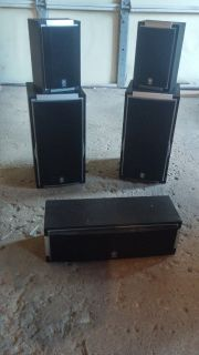 5 Yamaha speakers