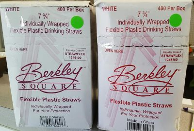 CLEARANCE SALE!! Box of Individually wrapped drinking straws