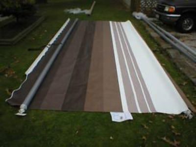 Sell 21' RV TRAILER CAMPER REPLACEMENT FACTORY AWNING FABRIC FAWN (BROWN) A & E NEW motorcycle in Stow, Ohio, US, for US $239.99