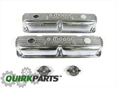 Sell MOPAR PERFORMACE 318/340/360 Small Block Engines POLISHED ALUMINUM VALVE COVERS motorcycle in Braintree, Massachusetts, United States, for US $132.89