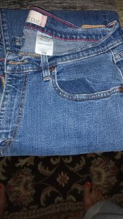 Levi jeans stretchy material size 16 medium