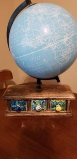 Globe with cute glass drawers