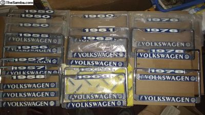 BUBBLEHEAD Year License Plate Frames Volkswagen