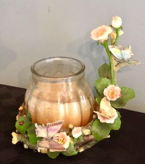 Beautiful Butterfly Retreat) Resin Candle Holder / Stand; Jar Candle NOT included