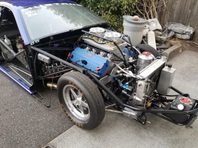 Ford 453 ci Pro Stock engine with 2 spare blocks and parts