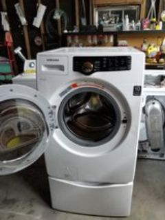 Samsung vrt front load washer with pedestal