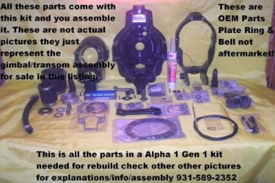 Sell Mercruiser Alpha 1 Generation Gen one Transom Assembly Gimbal Rebuild Kit Reman! motorcycle in Linden, Tennessee, United States
