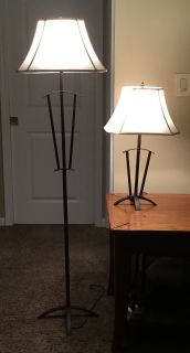 2 lamps - Mission style - bronze