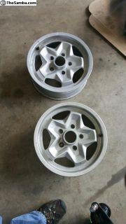 Pair of nice 15x6 Porsche Cookie Cutters 5x130