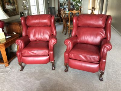 Leather Recliners by Ethan Allan