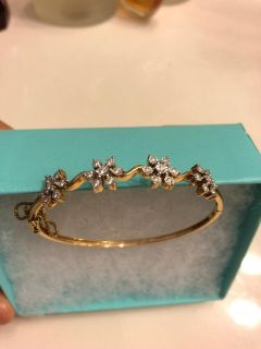 Brand new gold bracelet 14k diamonds