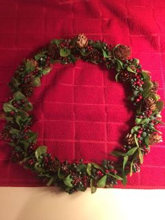 Pretty centerpiece wreath for table OR you can hang it on your door