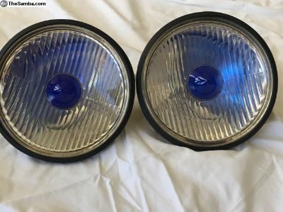 "Vintage 7"" European Blue Dot Headlights"