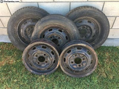 Complete Set of 1967 Ghia Stock Factory Rims